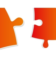 color puzzle close-up vector image vector image