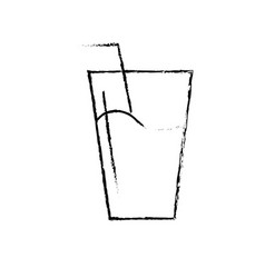 figure water glass to freshness and healthylife vector image vector image