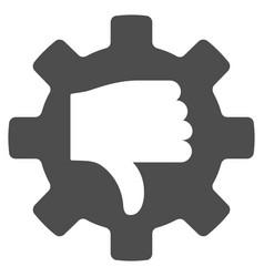 Gear thumb down flat icon vector