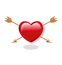 Heart And double Arrows vector image vector image