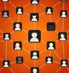 Scheme of social network vector image vector image