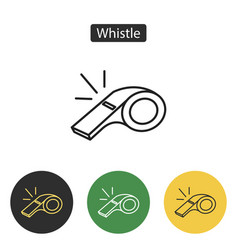 whistle of referee icon vector image vector image