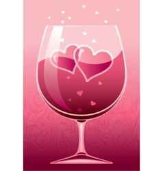 Wine of love vector image