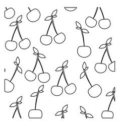 figure cherrys background icon vector image