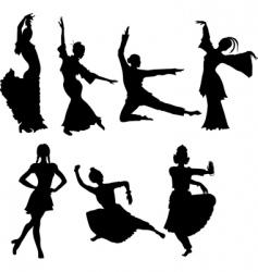Folk dancers vector