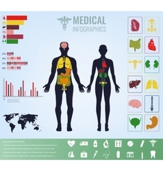 Medical Infographic set with charts and other vector image