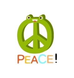 Peace Word And Corresponding Cartoon vector image