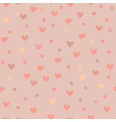 Seamless background pattern with hearts vector image