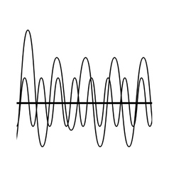Sound waves isolated icon design vector image