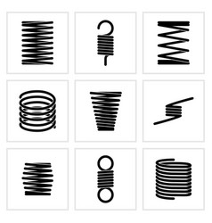 Steel wire flexible spiral coils spring vector