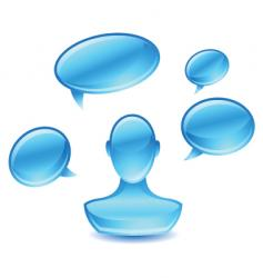 user speak vector image vector image