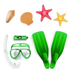 Diving equipment vector image