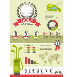 Golf infographics vector image vector image