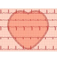 heartbeat electrocardiogram vector image vector image