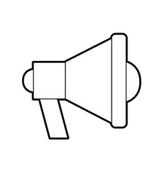 Megaphone sound isolated icon vector