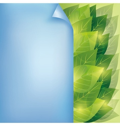 Eco background with leaves and paper vector image vector image