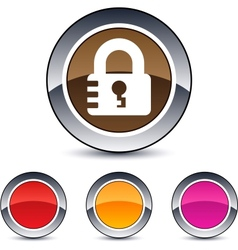 lock round button vector image vector image