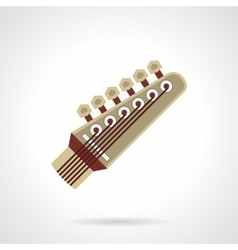Six-string guitar head flat color icon vector image vector image
