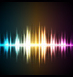 sound wave music equalizer vector image