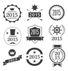 Typographic set vintage labels signs badges vector image vector image