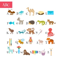 ABC Cartoon vocabulary for education Children vector
