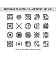 Abstract geometric shape monoline 91 vector