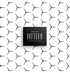 Abstract sharp line pattern forming hexagon vector