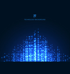 abstract technology blue magic sparkling glitter vector image