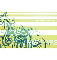Abstract tribal-inspired background vector