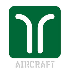 Aircraft conceptual graphic icon vector