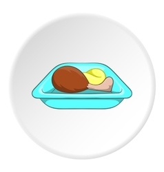 Airline food icon cartoon style vector