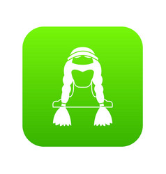 american indian icon digital green vector image