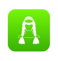 american indian icon digital green vector image
