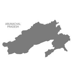 Arunachal pradesh india map grey vector