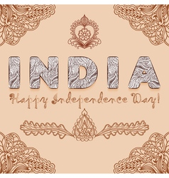 Background congratulation of India independence vector image
