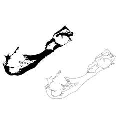 Bermuda island map vector