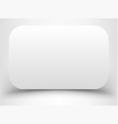 blank white rectangle with rounded corners vector image