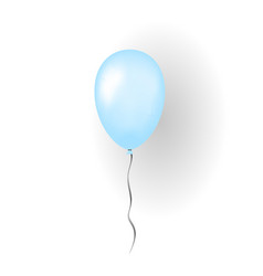 blue balloon 3d thread isolated on white vector image