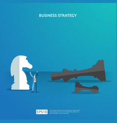 Business concept for competition strategy winning vector