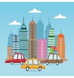 Cars cartoons icon set design vector image