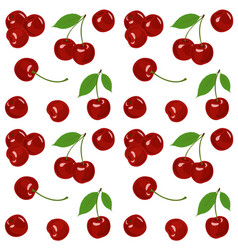 cherry cherry background vector image