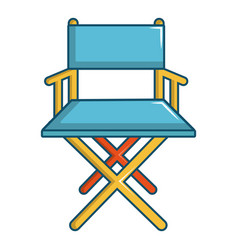 Cinema director chair icon cartoon style vector