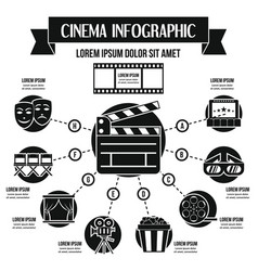 Cinema infographic concept simple style vector