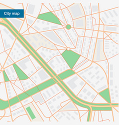city map in flat style vector image