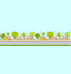 city urban empty no people park green trees and vector image