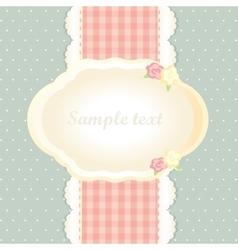 classic romantic invitation design vector image