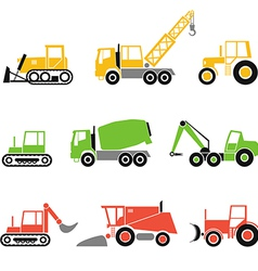 collection modern technics silhouettes vector image