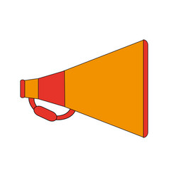 color image cartoon megaphone with handle vector image