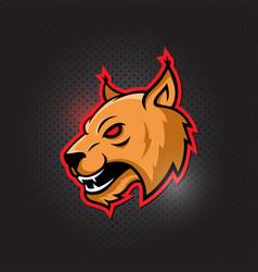 cougar mascot head vector image