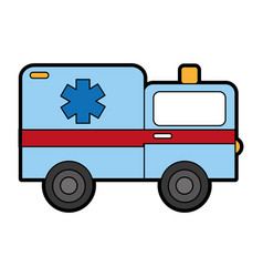 cute ambulance car cartoon vector image